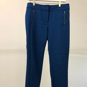 Royal blue Loft dress pants with zipper detail